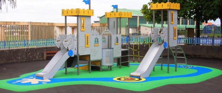 L'aire de jeux de l'école Langevin à Jarny pour la rentrée 2018